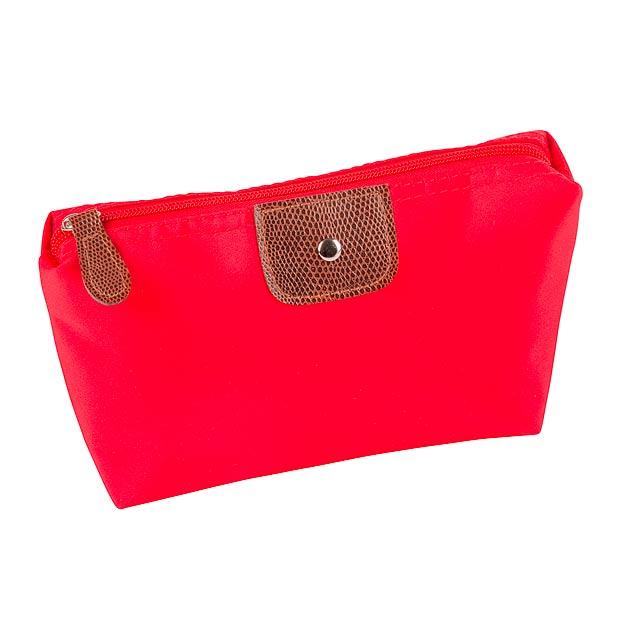 Kosmetická taška ACCESSORY - červená