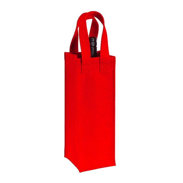 Plstěná taška na láhve CABERNET - červená