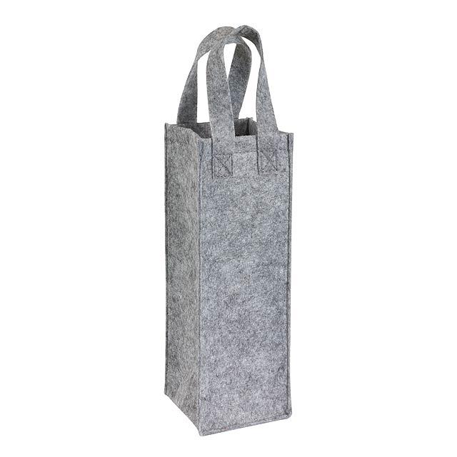 Plstěná taška na láhve CABERNET - šedá
