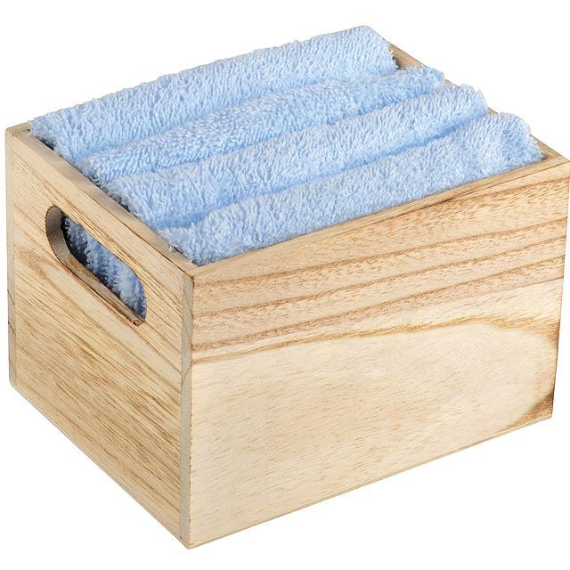 Sada ručníků HOME HELPER, 5 kusů - nebesky modrá