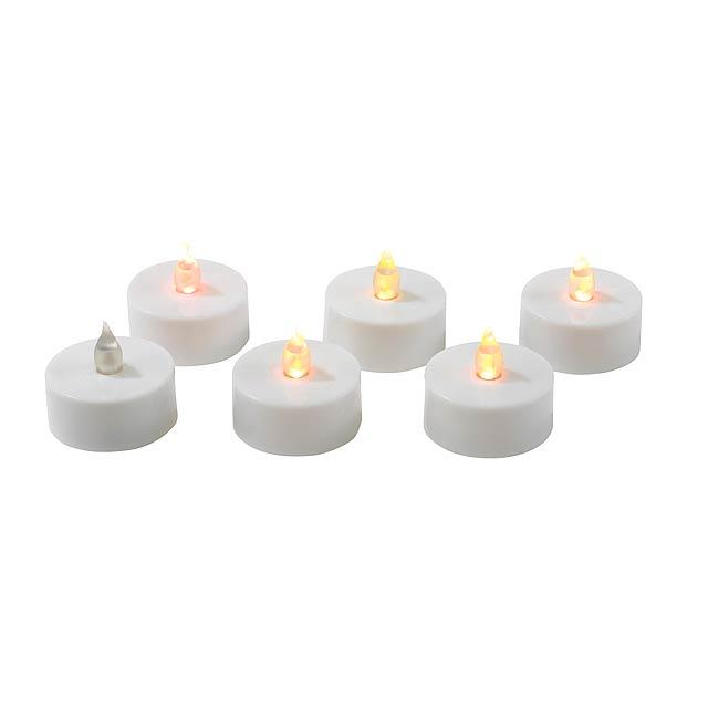 LED čajová svíčka TEA TIME - bílá