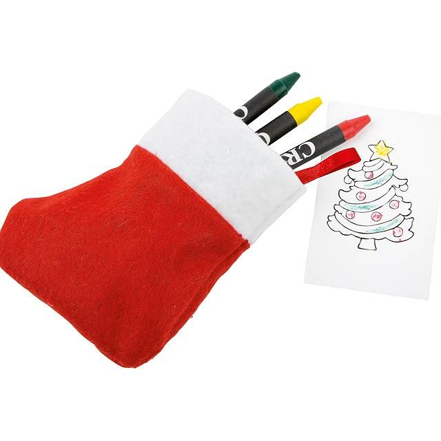 Christmas stocking drawing set NICOLA - white