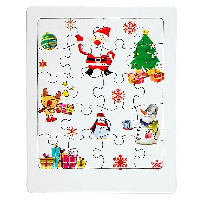 Vánoční puzzle XMAS CHALLENGE - bílá