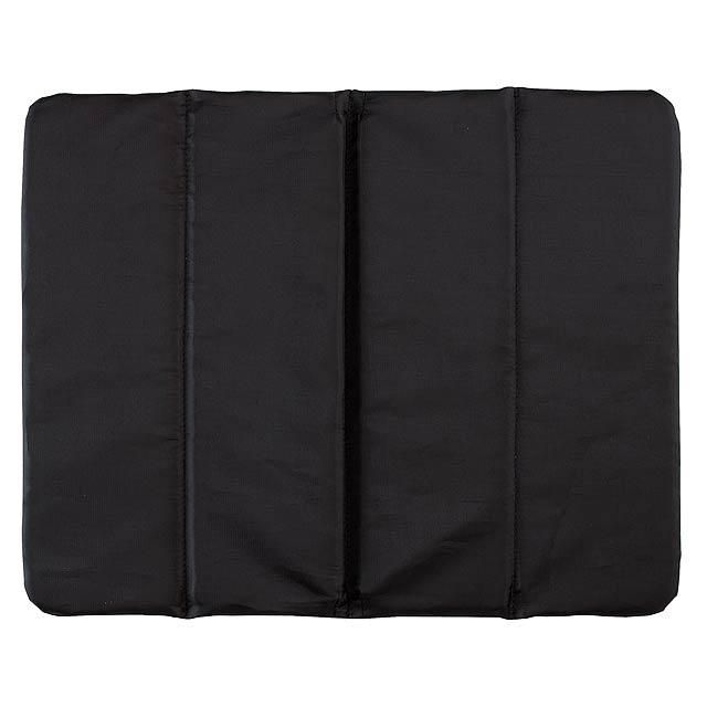Pohodlný polštář PERFECT PLACE - 3x skládací - černá