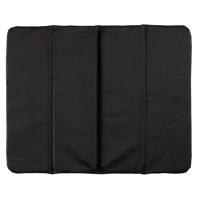 Comfortable cushion PERFECT PLACE - 3x foldable - black