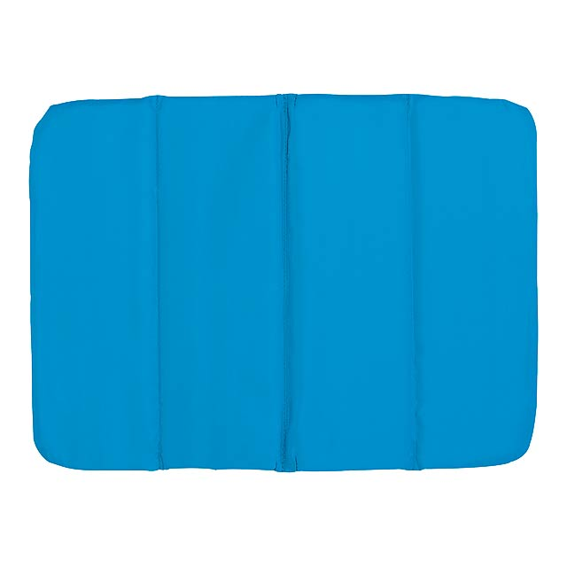 Comfortable cushion PERFECT PLACE - 3x foldable - blue