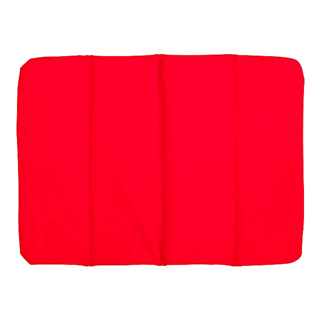 Comfortable cushion PERFECT PLACE - 3x foldable - red