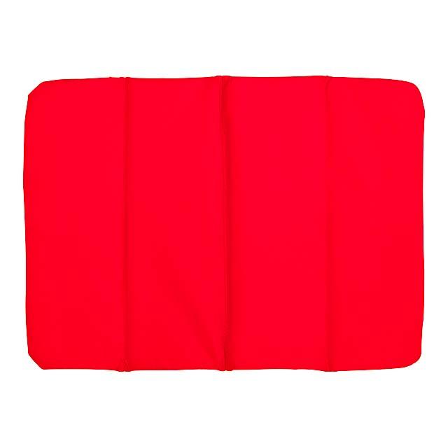 Pohodlný polštář PERFECT PLACE - 3x skládací - červená