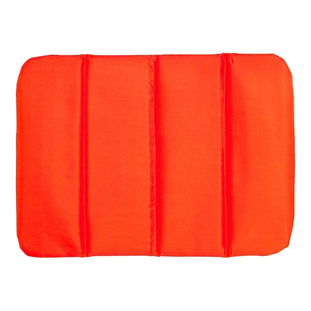 Comfortable cushion PERFECT PLACE - 3x foldable - orange