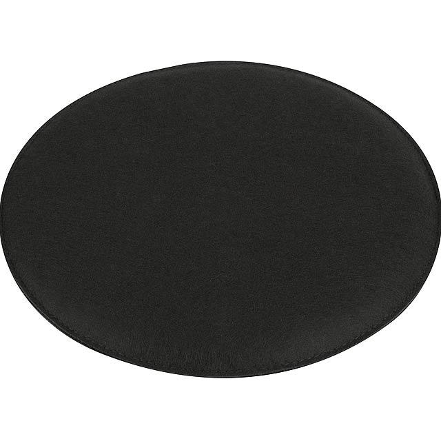 Pohodlný polstrovaný sedák SIT DOWN - čierna