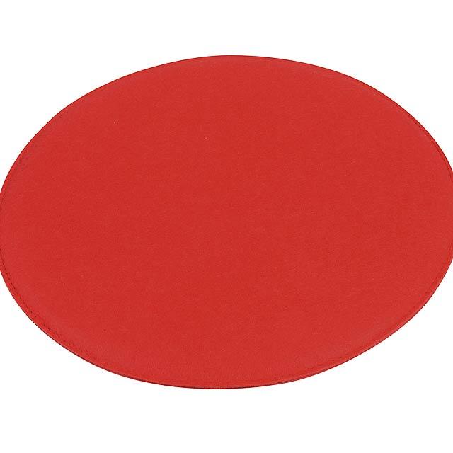 Pohodlný polstrovaný sedák SIT DOWN - červená