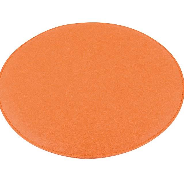 Pohodlný polstrovaný sedák SIT DOWN - oranžová