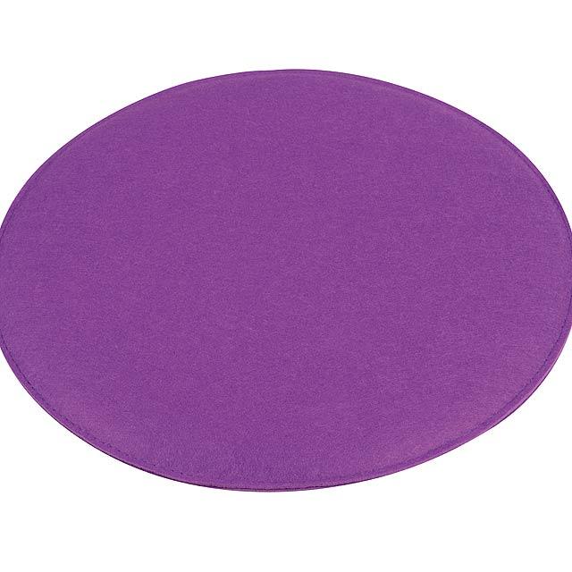 Pohodlný polstrovaný sedák SIT DOWN - fialová