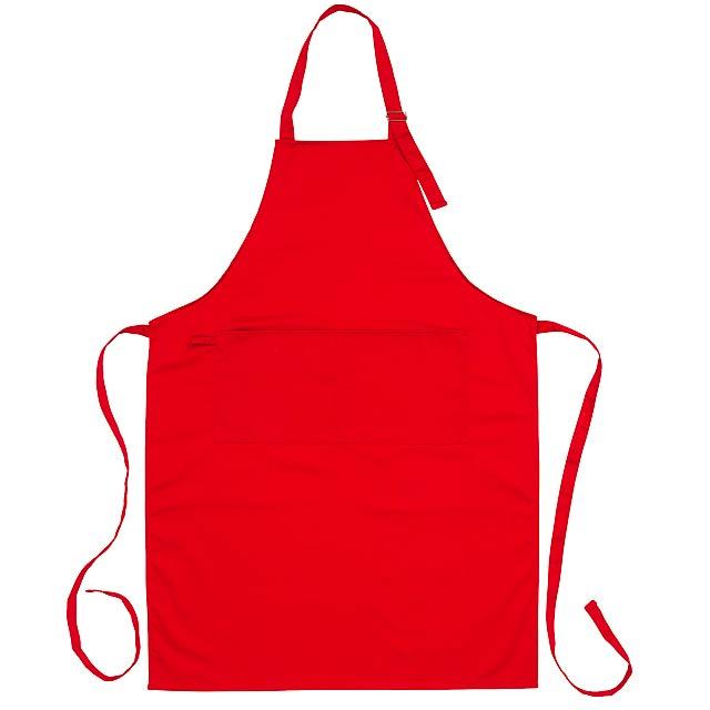 Kuchyňská zástěrka BEST SERVICE - červená
