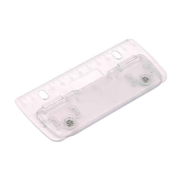 Mini děrovačka PAGE - transparentní