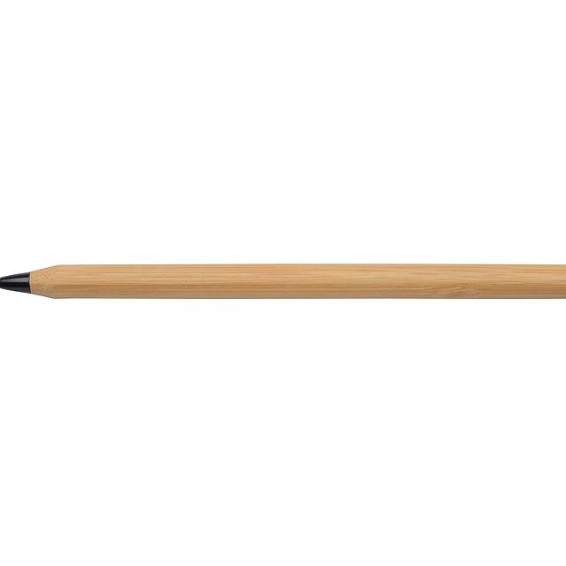 Bambusové kuličkové pero ESSENTIAL - čierna