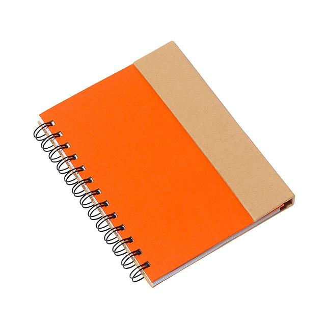 Poznámkový blok MAGNY - oranžová
