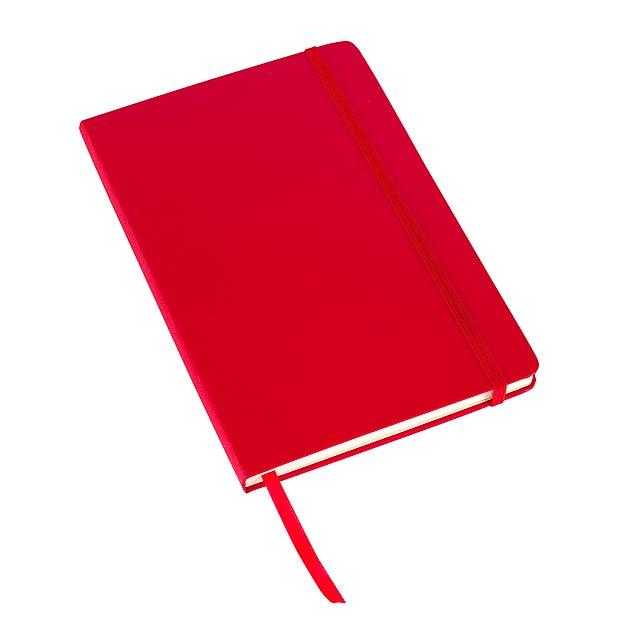 Poznámkový blok ATTENDANT ve formátu DIN A5 - červená