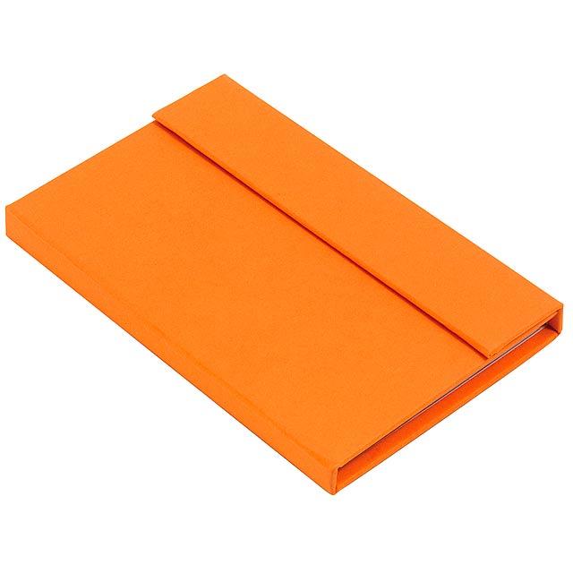 Blok LITTLE NOTES - oranžová