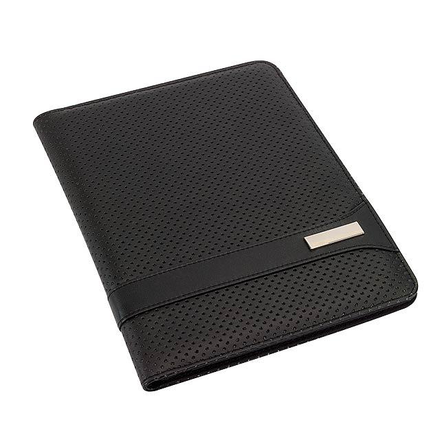 Portfolio konferenční desky mini tabletů HILL DALE ve formátu DIN A5 - černá