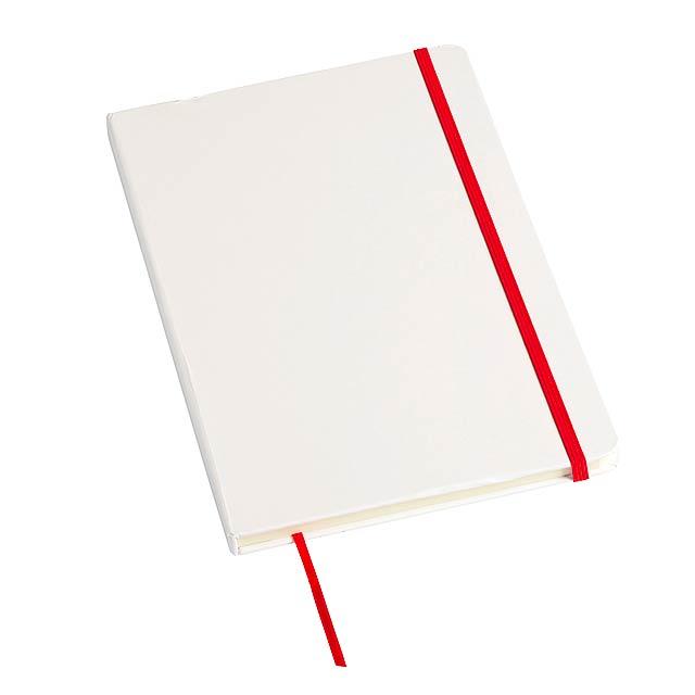 Poznámkový blok AUTHOR ve formátu DIN A5 - červená
