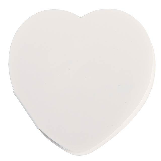 Heart memo stickers IN LOVE - white
