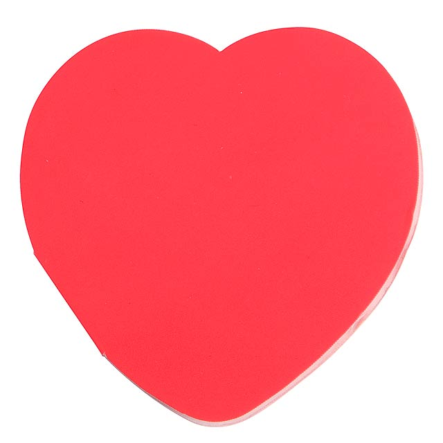 Heart memo stickers IN LOVE - red