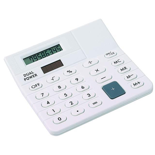 Duálny kalkulačka CORNER - biela
