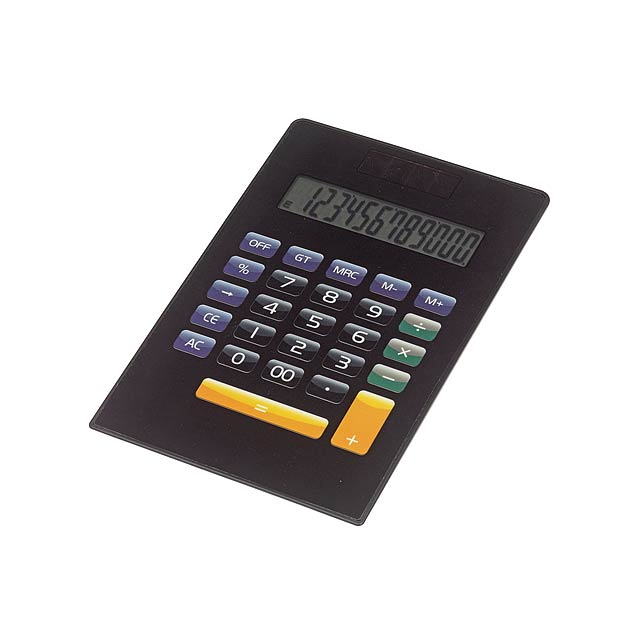 12-digit dual powered calculator NEWTON - black