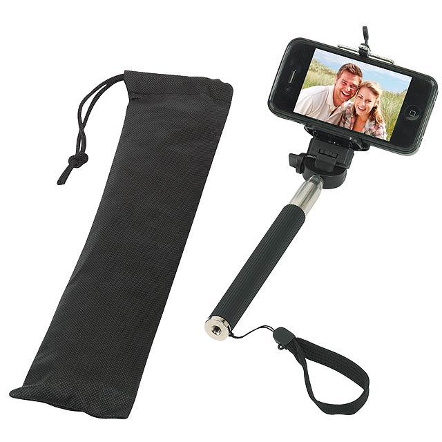 Teleskopická selfie tyč SELFIE - černá