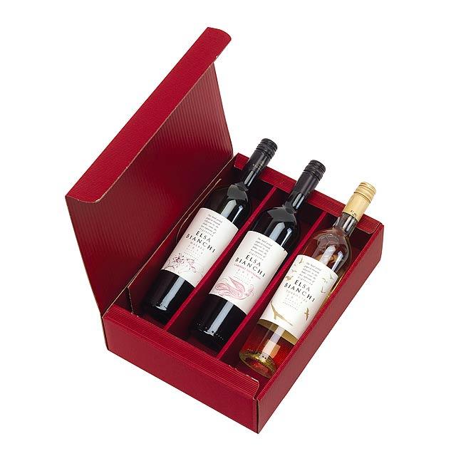 3 piece wine set in gift box, ELSA BIANCHI (Cabernet Sauvignon, Malbec, Torrontés) -
