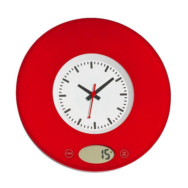 Kuchyňská váha TIME - červená