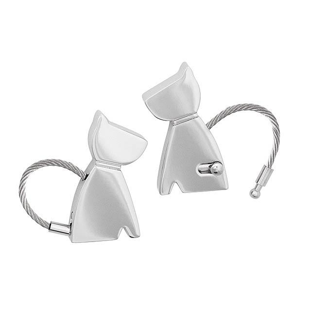 Klíčenka PERRO - stříbrná