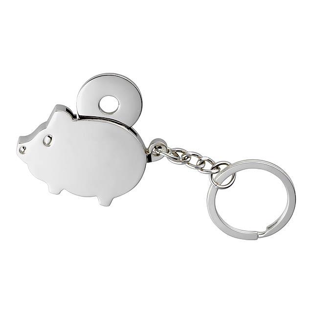 Klíčenka CHAMBA - stříbrná