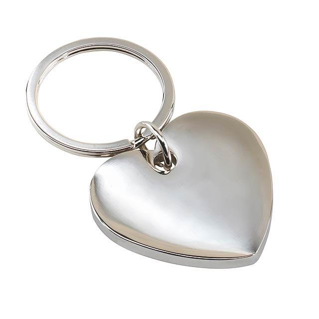 Klíčenka LOVELY - stříbrná