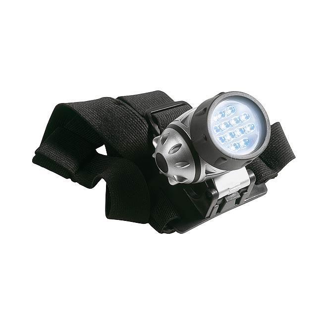 LED čelovka KILIMANDSCHARO - stříbrná