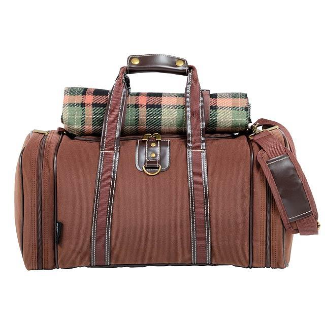 Pikniková taška 4 PICKNICK - hnědá