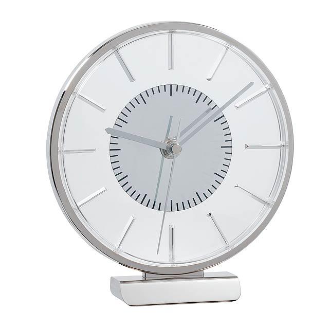 Stolové hodiny AALBORG - strieborná