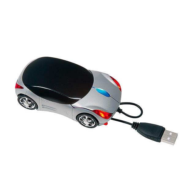 USB myš PC TRACER - stříbrná