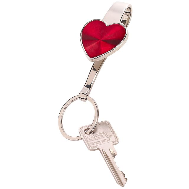 Klíčenka srdce WITH LOVE - stříbrná