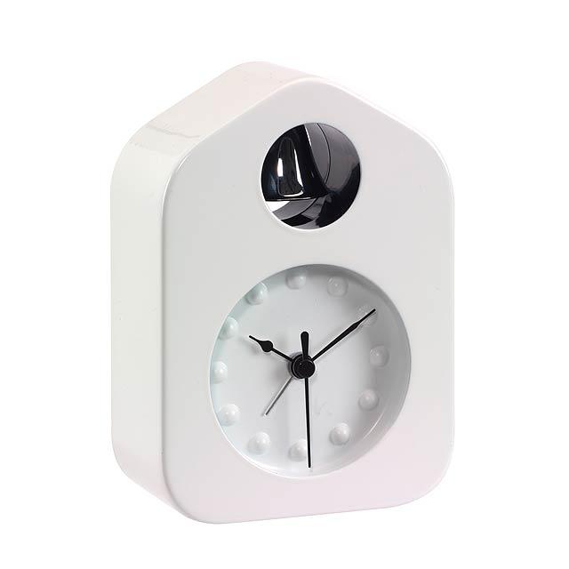 Stolové hodiny BELL - biela