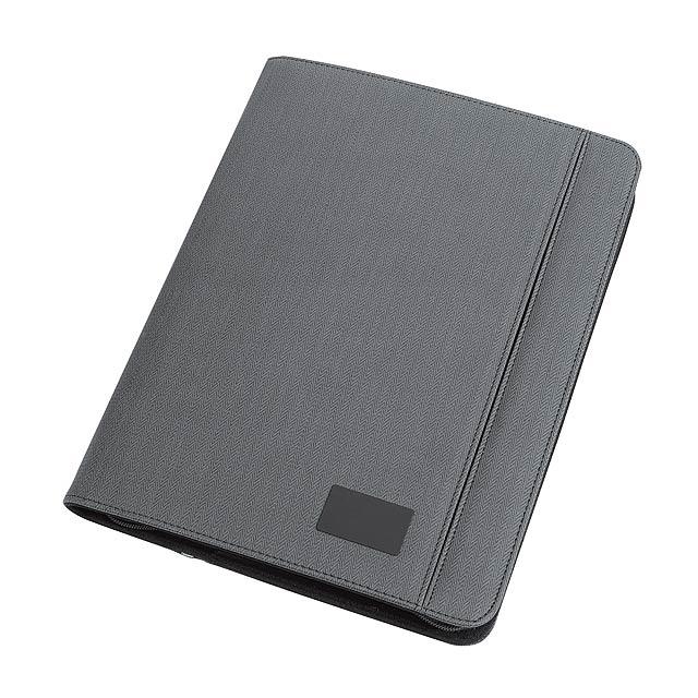 Portfolio konferenční desky HIGHNESS ve formátu DIN A4 - tmavě šedá