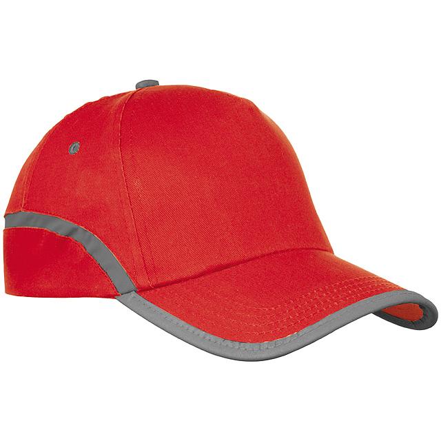 Bavlněná kšiltová čepice - červená