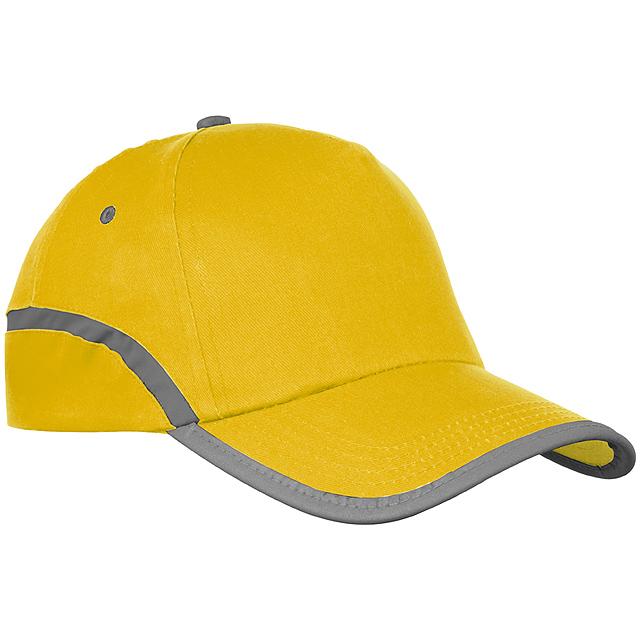 Bavlněná kšiltová čepice - žlutá 5112e5a7ec