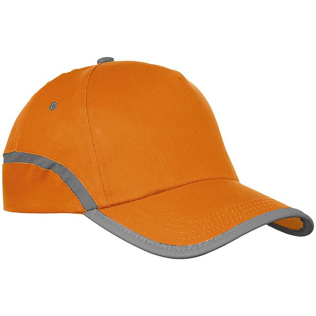Bavlněná kšiltová čepice - oranžová
