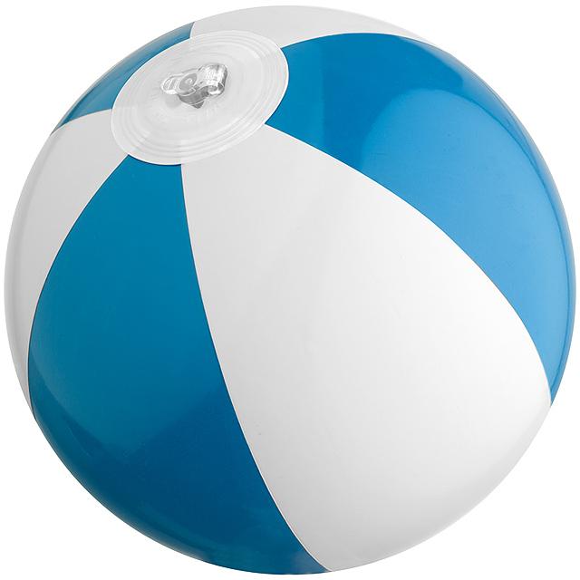 Dvojfarebná mini plážová lopta - modrá