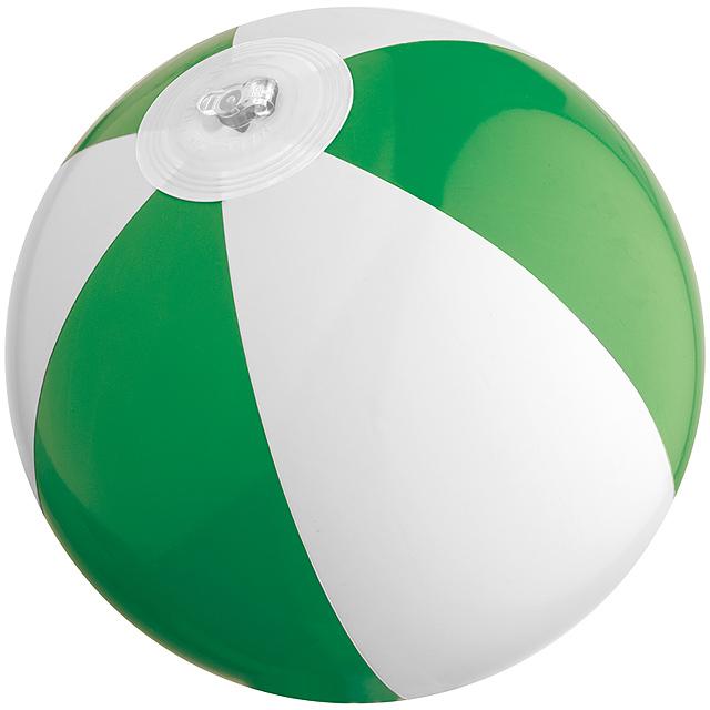 Dvojfarebná mini plážová lopta - zelená
