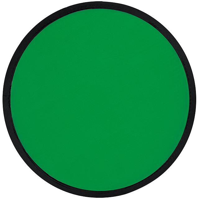 Skládací frisbee - zelená