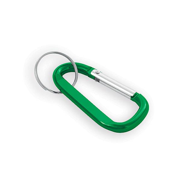 GARIN kovový přívěsek na klíče, karabina, Zelená - zelená