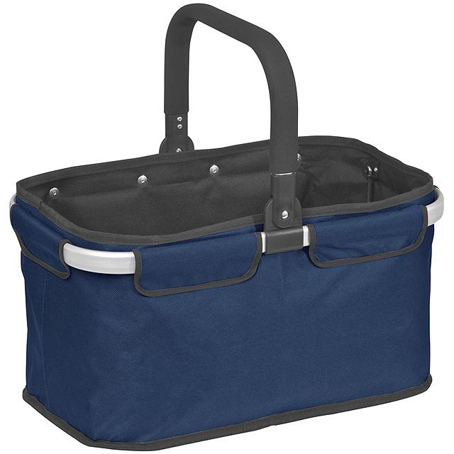 Luxusní nákupní košík - modrá